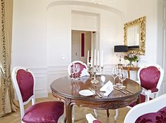 The Schloß Schönbrunn Grand Suite is just in the center of the beautiful Schönbrunn Palace. If you want to be a princess or a prince feel free to contact us. :) in a special hotel room.at/Suite-Schloss-Schoenbrunn/en/ Hotels, Vienna Austria, Table Settings, Mansions, Room, Palaces, Emperor, Castles, Furniture
