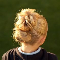jehat hair — Double messy buns are cute & perfect for just...