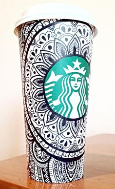 Want to do one of these designs on my Starbucks cup