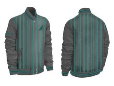 Wholesale Glenmasters Grey Striped Baseball Jacket Suppliers
