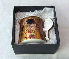 Tasse mit Filter und Deckel beige Teebecher Gustav Klimt der Kuss Filter, Collection, Atelier, China China