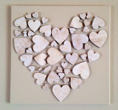 Neat idea to create a larger heart with smaller wood hearts Wooden Hearts Crafts, Heart Crafts, Wood Crafts, Diy And Crafts, Arts And Crafts, Valentine Decorations, Valentine Day Crafts, Be My Valentine, Craft Projects