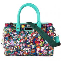 Tokidoki Rainforest Bowler Satchel Handbag , Green/Multi