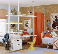 room partitions kids | Open sides computer table:
