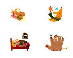 Natsuko Kawatsu / カワツナツコ Natsuko, Projects To Try, Kids Rugs, Paper, Cards, Books, Home Decor, Collage, Kunst