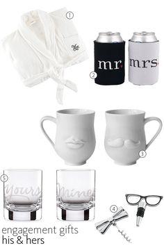 His and Hers Gifts | 56 Engagement Gift Ideas | https://www.theknot.com/content/engagement-gift-ideas