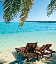 Caribbean honeymoon. Talk about relaxation!