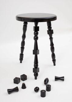 I dream, create and admire - inesestrazdinacov: Bead stool by Monika...