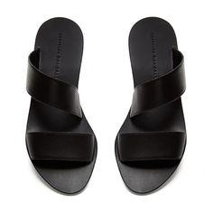 Clem Flat Sandal in Black Flat Sandals, Flats, Slip On, Loeffler Randall, Official Store, Meet, Shoes, Fashion, Shoes Sandals
