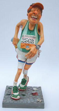The Runner-Running Sculpture by artist Guillermo Forchino. Discover the entire comical art collection at AllSculptures.com