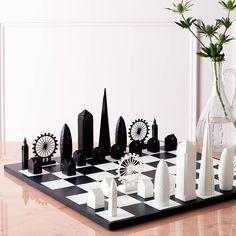 London Skyline Architectural Chess Set
