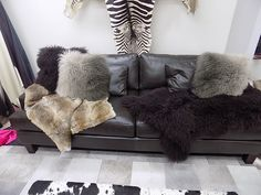 Our great Tibetan lamb cushions throws and our natural rabbit throw
