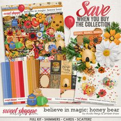 Believe in Magic: Honey Bear Collection by Amber Shaw & Studio Flergs