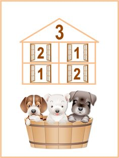 Cards ''numeric houses'' The composition of the first ten numbers. Math Place Value, Place Values, Funny Animal Videos, Funny Animals, School Frame, Homeschool, Teddy Bear, Education, Pets
