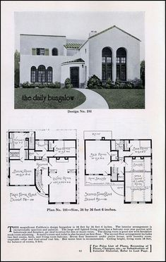 1000 images about vintage spanish bungalow on pinterest for Spanish bungalow floor plans