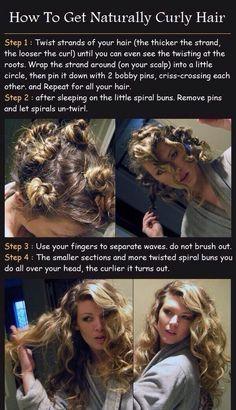 No-Heat Curls: 12 Ways to Get Heatless Curls |
