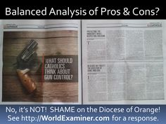 #OrangeCounty Diocese Runs #GunControl Hit Piece! #2A #tcot #CCW