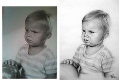 Desen după Imagine 24 - Desen în Creion de Corina Olosutean // Drawing from Picture 24 - Pencil Drawing by Corina Olosutean Face, Faces, Facial