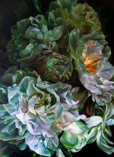 "Saatchi Art Artist Marcella Kaspar; Painting, ""Marcella Kaspar_L'heure Bleue_ SOLD"" #art"