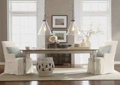 Modern Country Dining Room | Ethan Allen. - I like the table.
