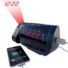 Edge Pro Alarm Clock Radio with Time Projection and USB Charger: Thicker Plastic and a heavy clock; Better speakers #coupons #discounts