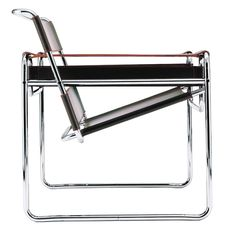 The Wassily Chair by Marcel Breuer. Designed in 1925 for the Bauhaus office of the painter Wassily Kandinsky. One of the icons of early modern furniture.