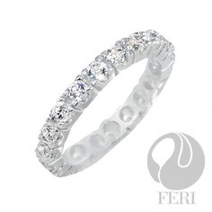 - Exclusive FERI 950 Siledium silver - Exclusive dual natural rhodium and palladium plating - Set with exclusive FERI Swan cut lab stones - Colour: white - Dimensions: width Invest with confidence in FERI Designer Lines. Sterling Silver Pendants, Love Fashion, Wedding Bands, Jewelry Design, Engagement Rings, Elegant, Earrings, Wealth, Lab