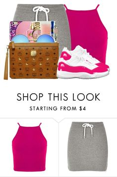 """""""Pink!"""" by dopegahl ❤ liked on Polyvore featuring River Island"""