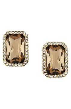 Vince Camuto Pavé Stone Clip Earrings available at #Nordstrom
