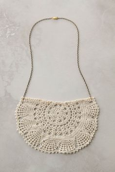 Anthropologie lace necklace