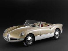 Alfa Romeo Giulietta Spider Prototype by #Bertone (1956) #alfaromeo #italiandesign
