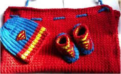 Superhero Cape, Hat and Booties - GoodKnit Kisses