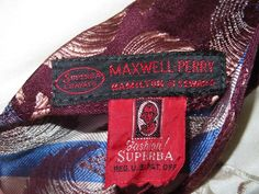 VINTAGE TIE 1940's-50's SUPERBA Cravat Swing Flared Brown w Cocoa & Gray Swirls