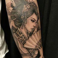 tatuajes de geishas para hombres ideas