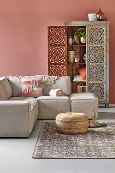 Woonexpress | hoekbank DEMEERN | wandkast LAGEWEG | karpet ATLAS | Alles voor je woonkamer  Bank en kast