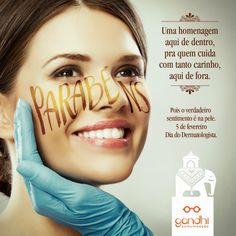 Marcelo Brito: Anúncio para o Dia do Dermatologista.  As emoções florescem na pele.  A homenagem é pra quem cuida dela.  05 de fevereiro – Dia do Dermatologista.