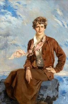 Painting of Amelia Earhart  -  by Howard Chandler Christy [1933] -- a fellow Kansas girl.