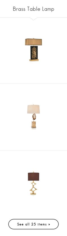 """Brass Table Lamp"" by instyledecor ❤ liked on Polyvore featuring home, lighting, table lamps, bedroom table lamp, brass table lamp, contemporary table lamp, designer table lamp, expensive table lamp, contemporary table lamps and contemporary lamps"