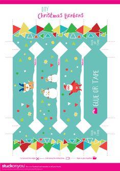 Free Printable Christmas Bon Bons   Stuck on You