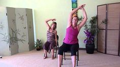Chair Yoga Stretches for Low Back Pain Sciatica Stretches, Sciatica Relief, Back Stretches For Pain, Yoga For Back Pain, Low Back Pain, Bed Workout, Piriformis Syndrome, Chair Yoga