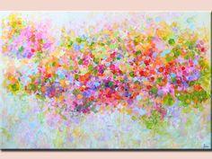 paisaje pintura arte pintura abstracta Original, decoración del hogar, la pintura moderna de la flor acrílica pintura abstracta