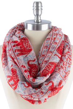 Elephant Infinity Scarf in Red – Sweater Weather Co.