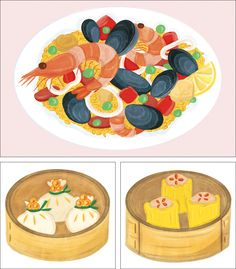 Food Drawing, Drawing For Kids, Art For Kids, Food Logo Design, Logo Food, Siomai, Chinese Picture, Pinterest Instagram, Food Cartoon