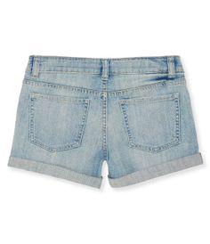 Kids' Light Wash Destroyed Denim Shorty Shorts -