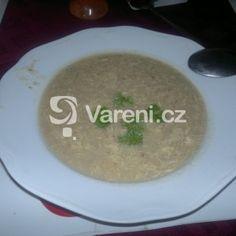 Kmínová polévka podle babičky recept - Vareni.cz Cheeseburger Chowder, Grains, Menu, Soup, Rice, Pudding, Desserts, Recipes, Menu Board Design