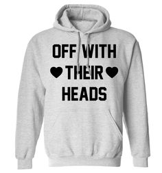 New to FloxCreative on Etsy: Off with their heads hoodie funny gift quote Alice book heart cards queen geek instagram hipster tumblr hoody maroon white grey S - 5XL 66 (22.95 GBP)