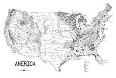 A map of the United States, drawn in the style of Lord of the Rings by redditor Jvlivs