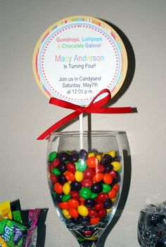 Made an invitation like this for Karis' Candy Land Party