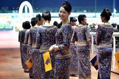 Singapore Airlines, Pierre Balmain: http://www.departful.com/2013/06/the-best-flight-attendant-uniforms/