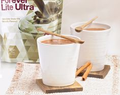 Try a hot chocolate using the Forever Lite Ultra shake with hot milk instead - delicious! #fitness